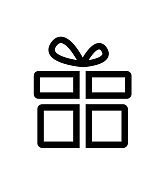 Line gift box icon vector illustration isolated on white