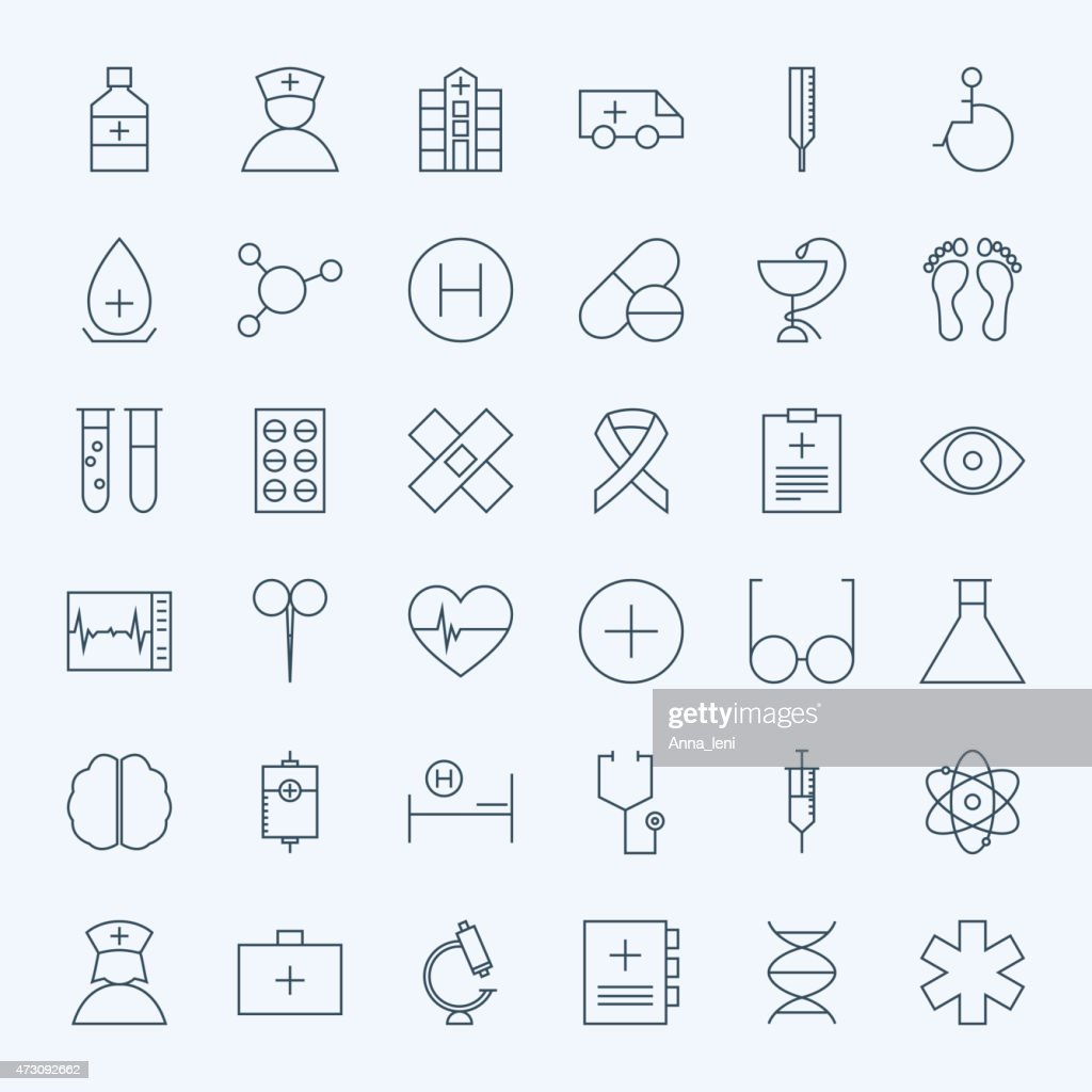 Line Healthcare and Medical Icons Set