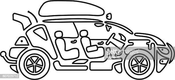 Line icon car