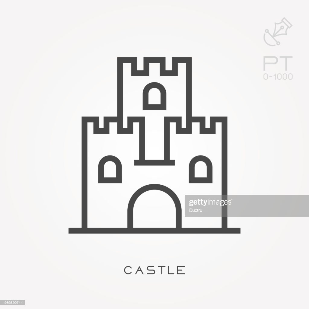 Line icon castle