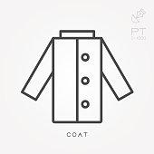 Line icon coat