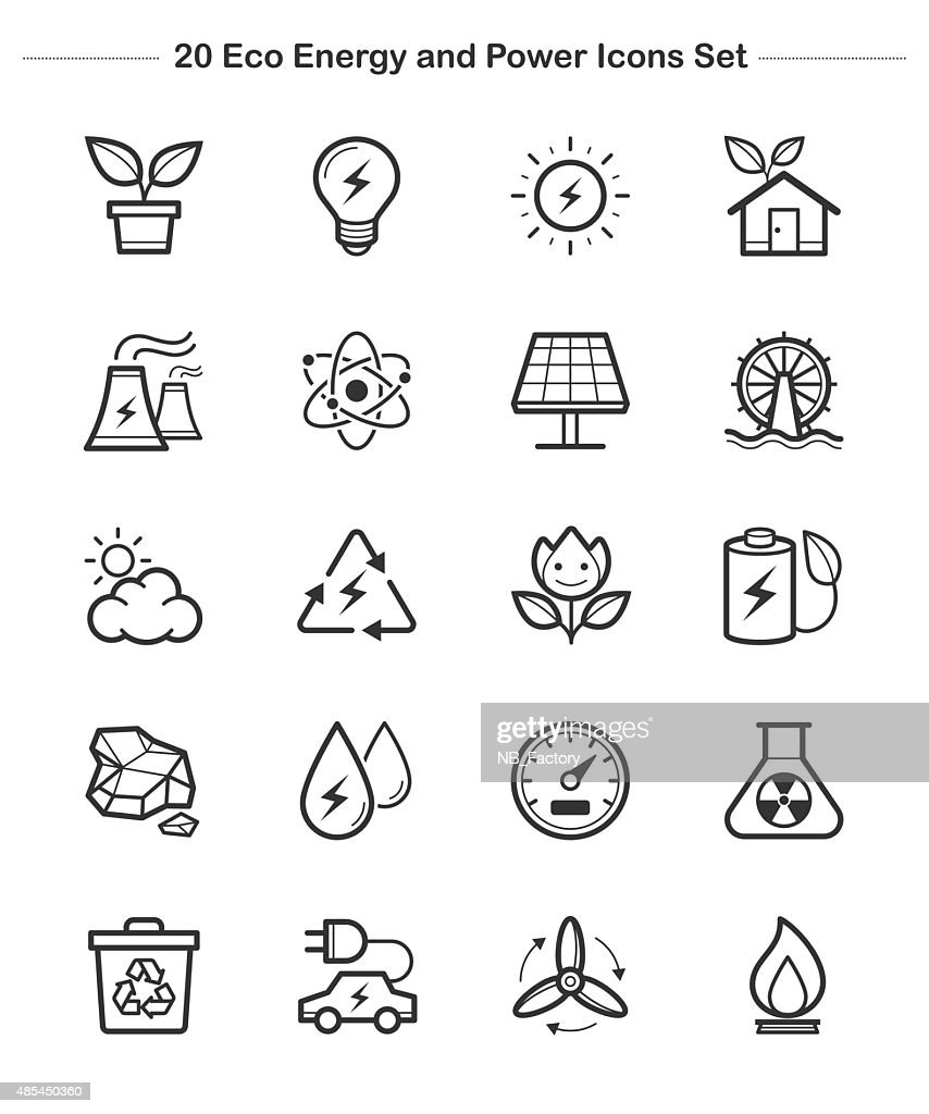 Line icon - Eco Energy and Power icons set, thick line