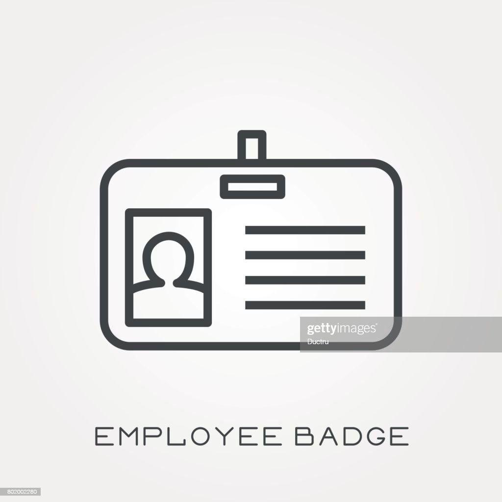 Line icon employee badge