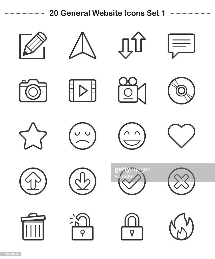 Line icon - General icons Set 1, Bold
