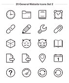 Line icon - General icons Set 2, Bold