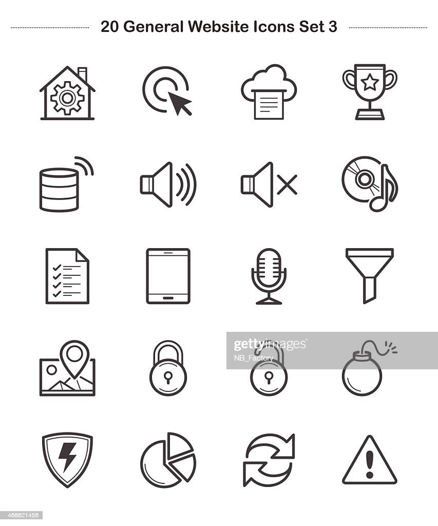 Line icon - General icons Set 3, Bold