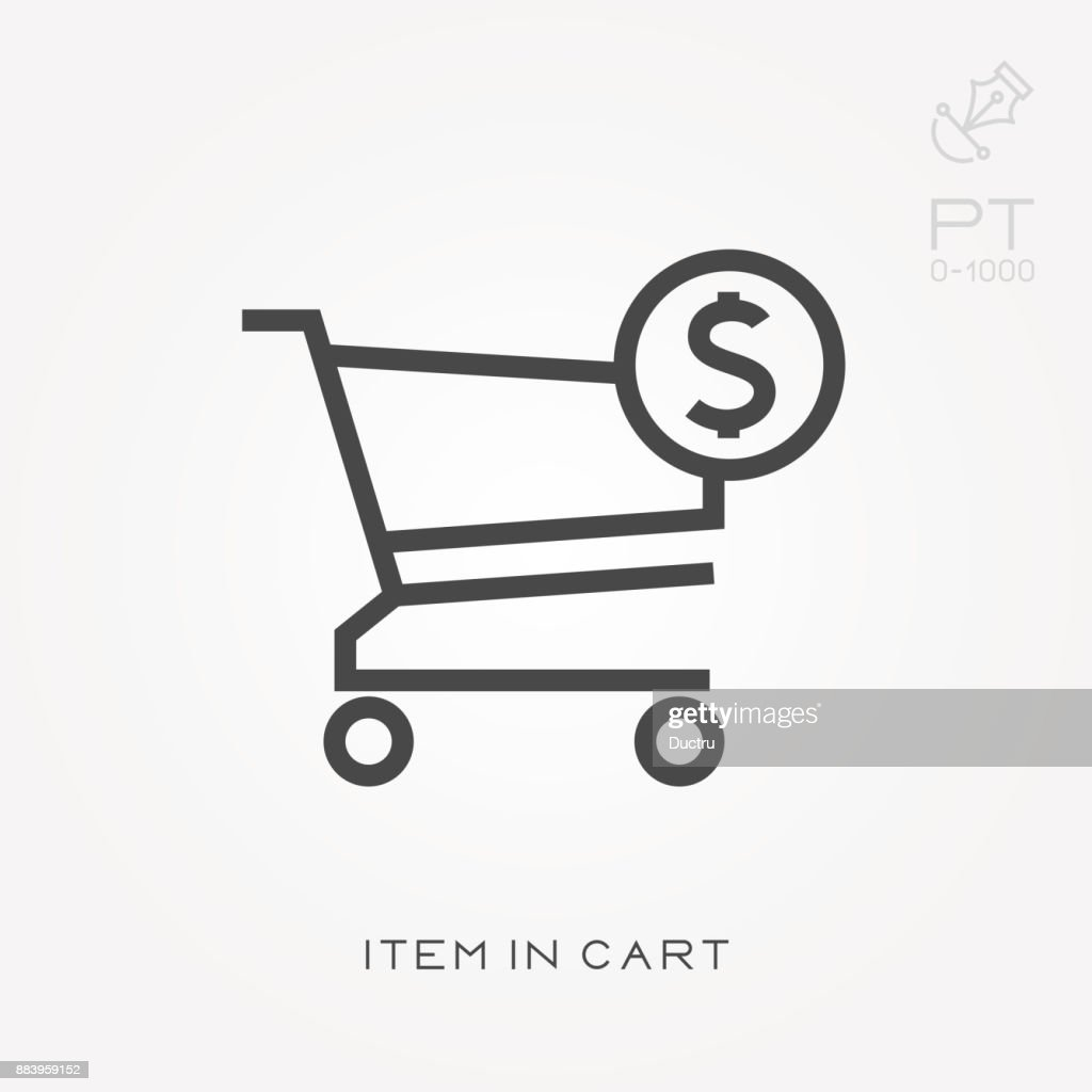 Line icon item in cart