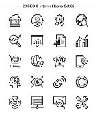 Line icon - SEO & Internet set 2, Bold