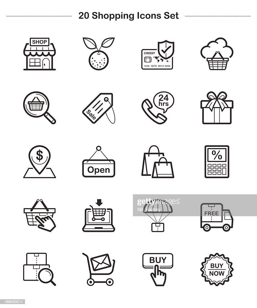 Line icon - Shopping, Bold