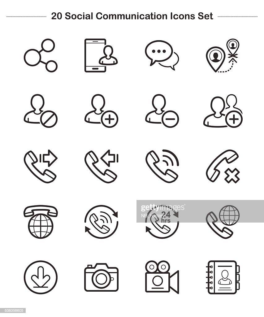 Line icon -  Social Communication, Bold