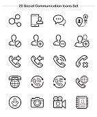 Line icon -  Social Communication, Bold
