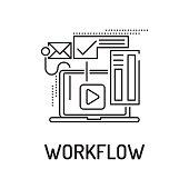 WORKFLOW Line icon
