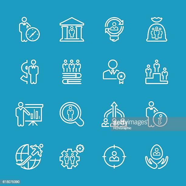 Line icons - Business & Recruitment Set