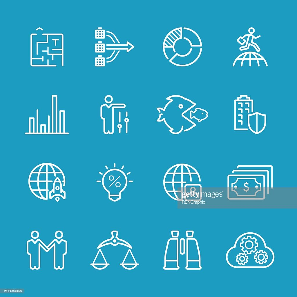Line icons - Business Series : Stock-Illustration