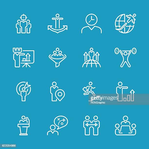 Line icons - Businessman & metaphor Series