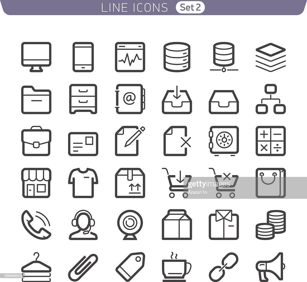 Line icons. Communication and Shopping.