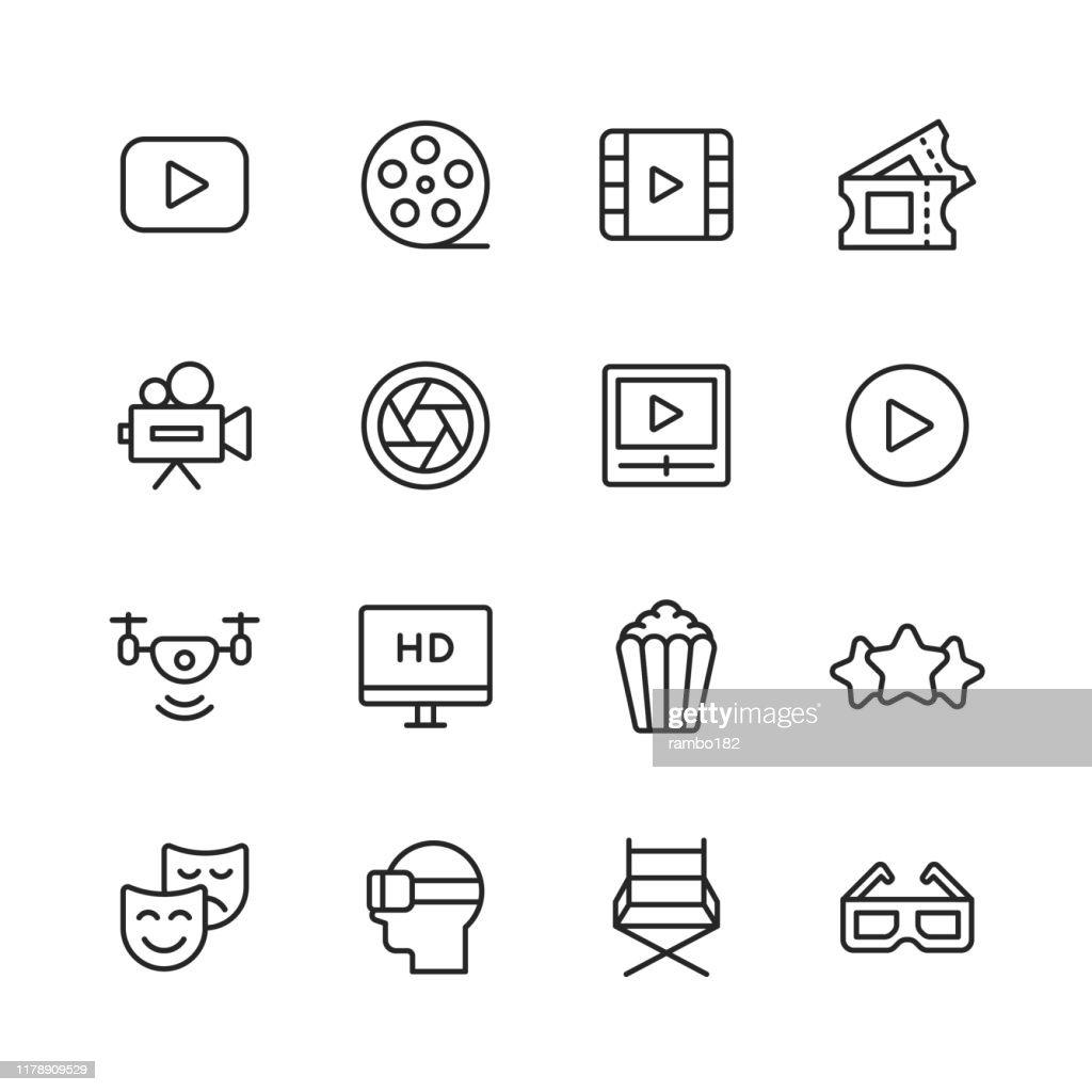 ---線アイコン。編集可能なストローク。ピクセルパーフェクト。モバイルとウェブ用。---.などのアイコンが含まれています : ストックイラストレーション