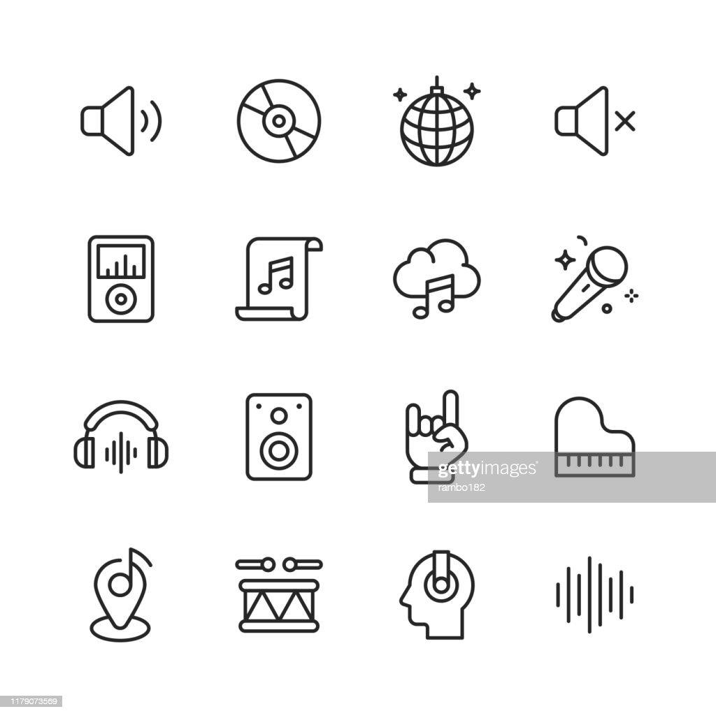 --- iconos de línea. Trazo editable. Píxel perfecto. Para móviles y web. Contiene iconos como ---. : Ilustración de stock