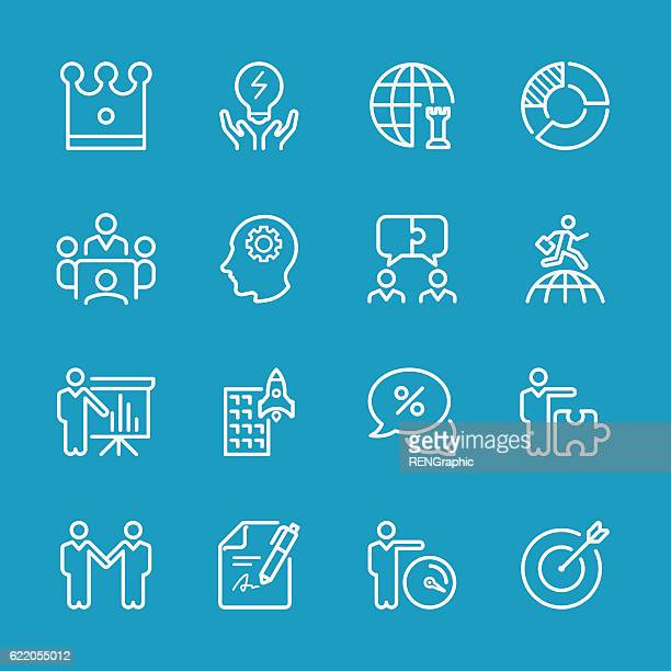 Line icons - Global Business and Strategy Series