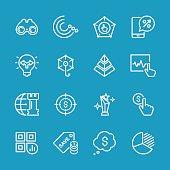 Line icons - Marketing Series
