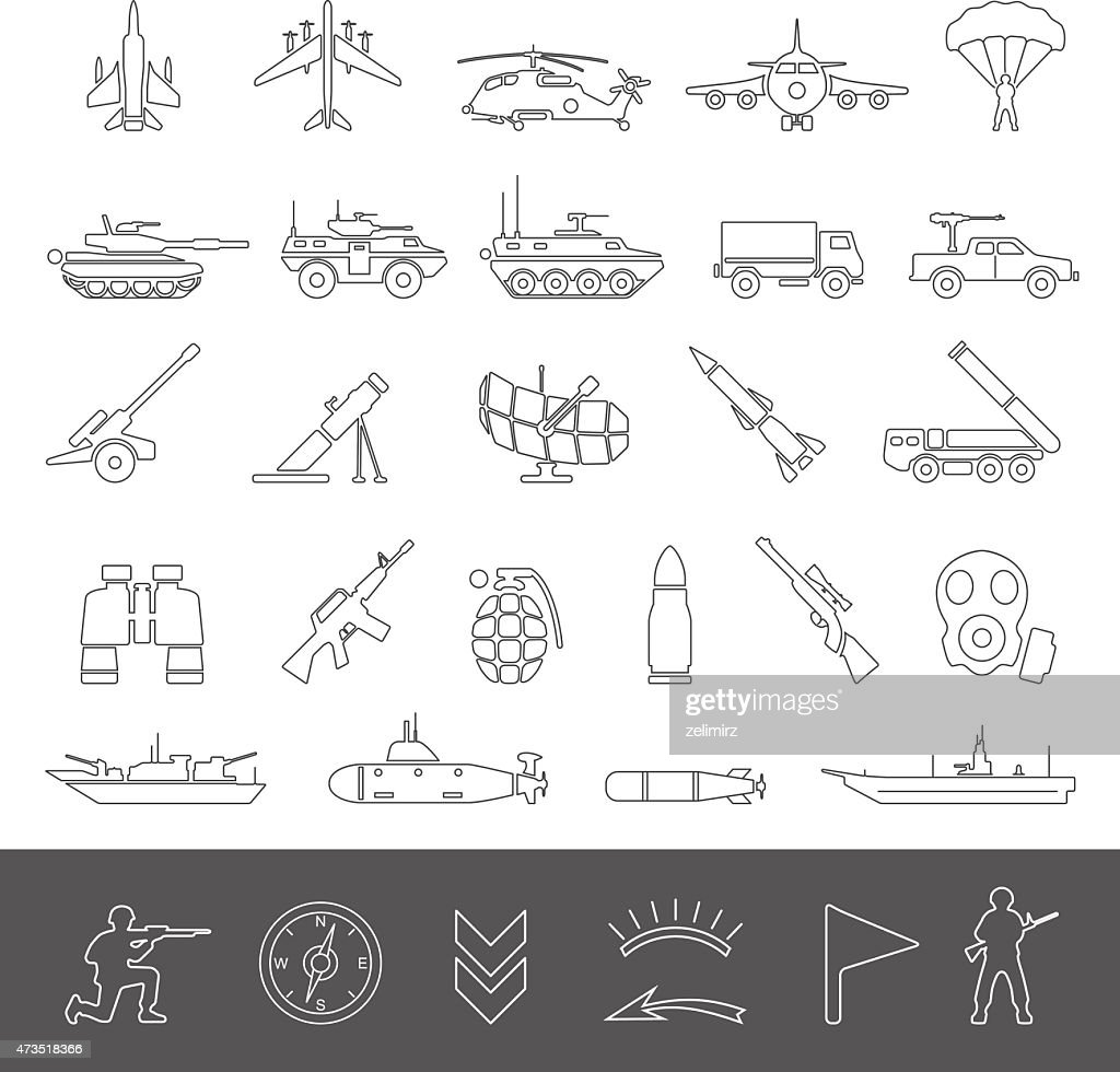 Line Icons - Military