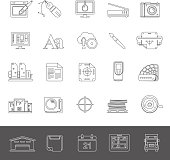 Line Icons - Offset Printing