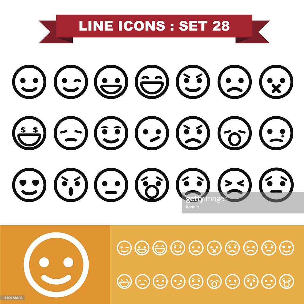 Line icons set 28