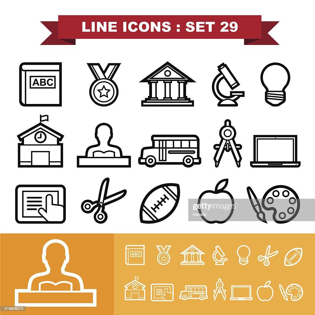 Line icons set 29