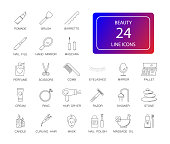 Line icons set. Beauty pack