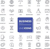 Line icons set. Business