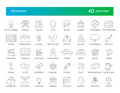 Line icons set. Proffesion pack