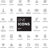 Line icons set. SEO