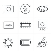 Line Icons Style Photography icons