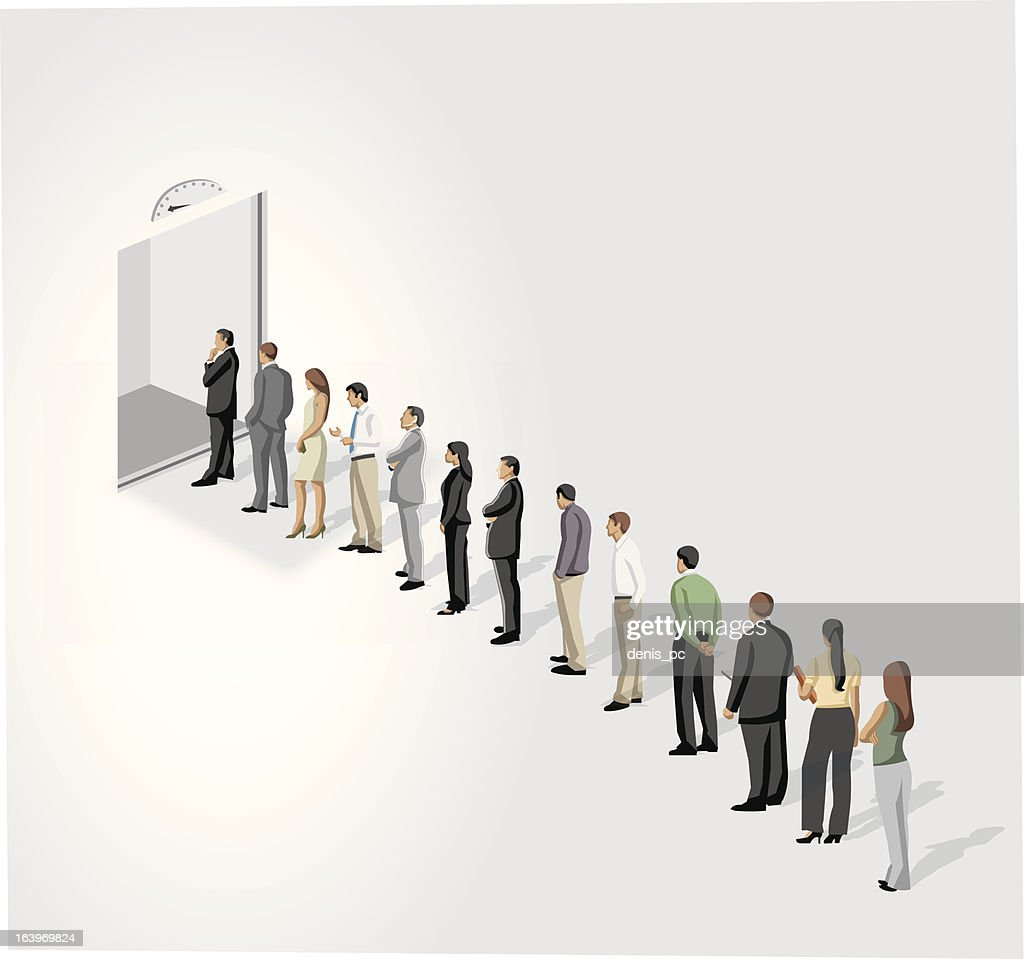 line in front of a elevator