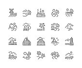 Line Landscape Icons