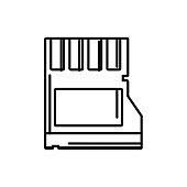 line micro sd memory data technology