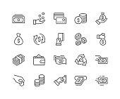 Line Money Icons