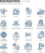 Line Navigation Icons