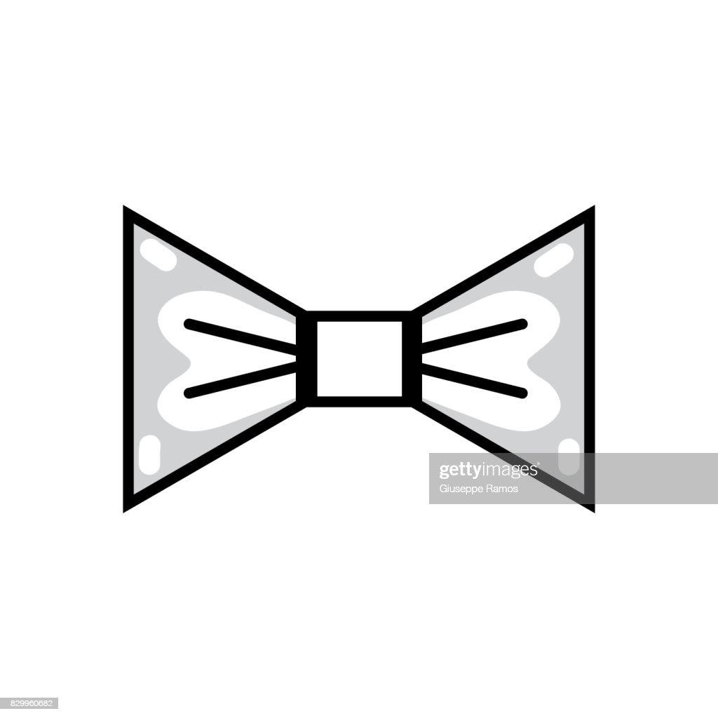 line nice bowtie style decoration design