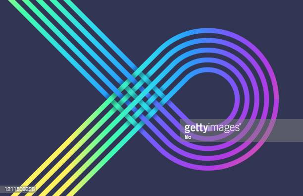 line overlap abstract - braided stock illustrations