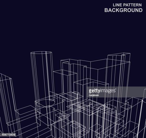 line pattern background - architecture stock illustrations, clip art, cartoons, & icons