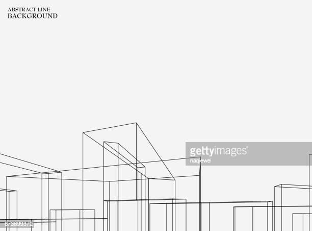 line pattern background - built structure stock illustrations
