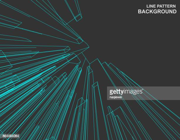 line pattern background - single line stock illustrations