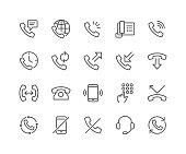 Line Phone Icons