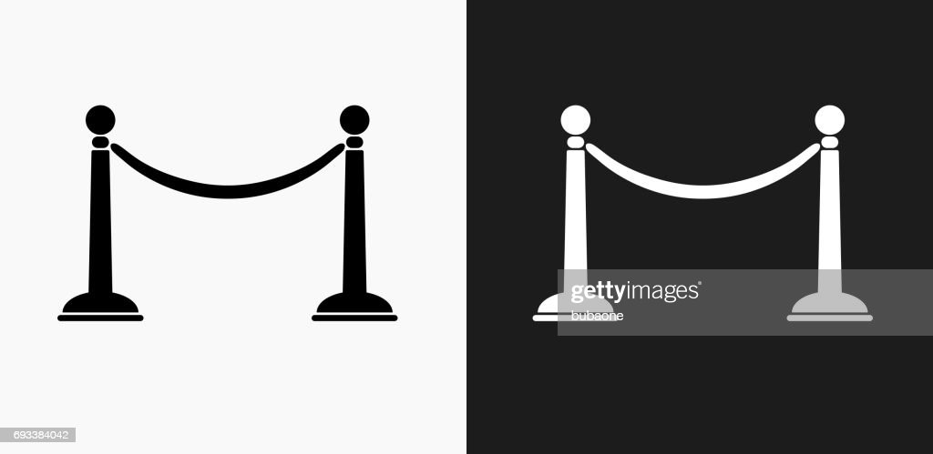 Line Rope Icon on Black and White Vector Backgrounds : stock illustration