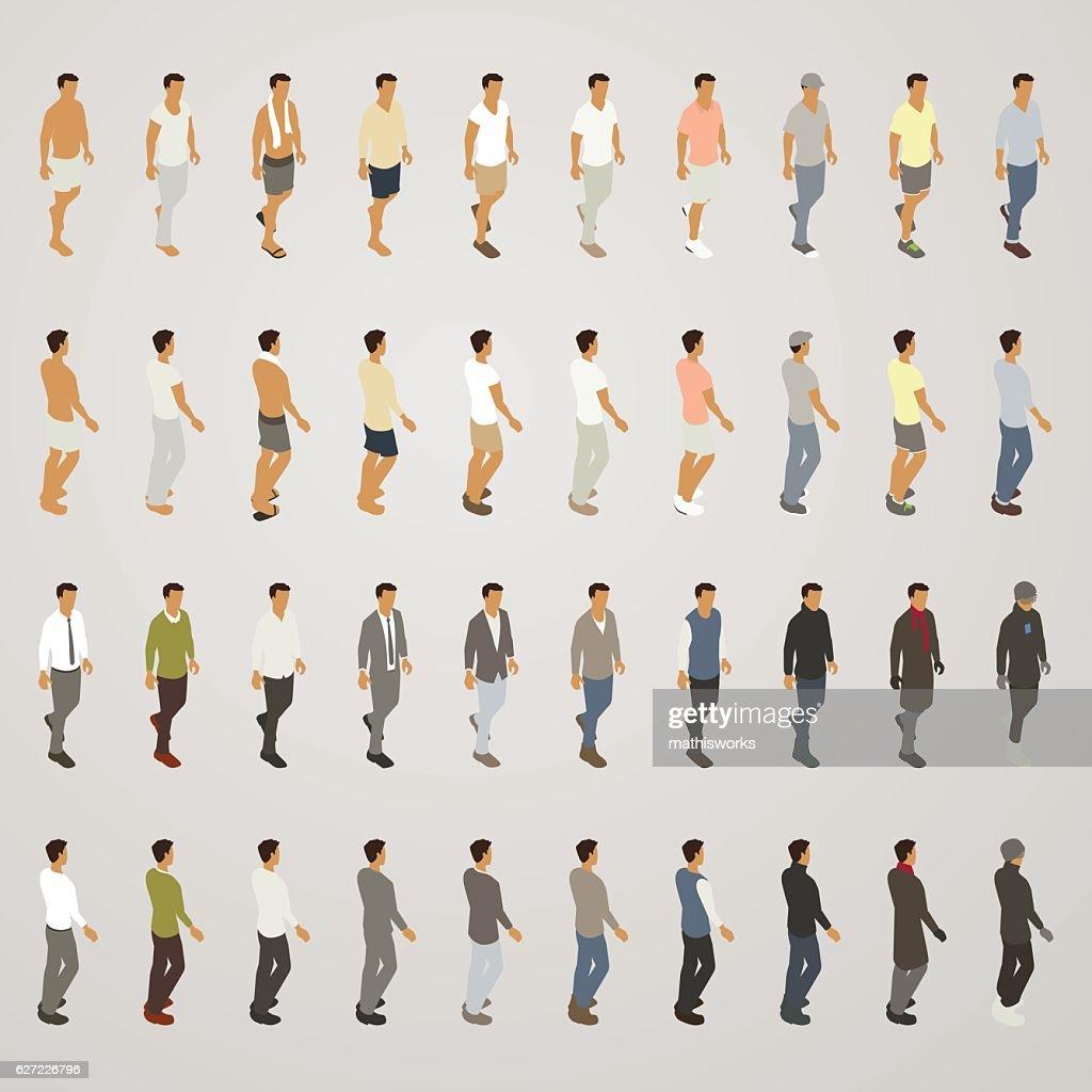 Line Sheet Men's Fashions : Vector Art