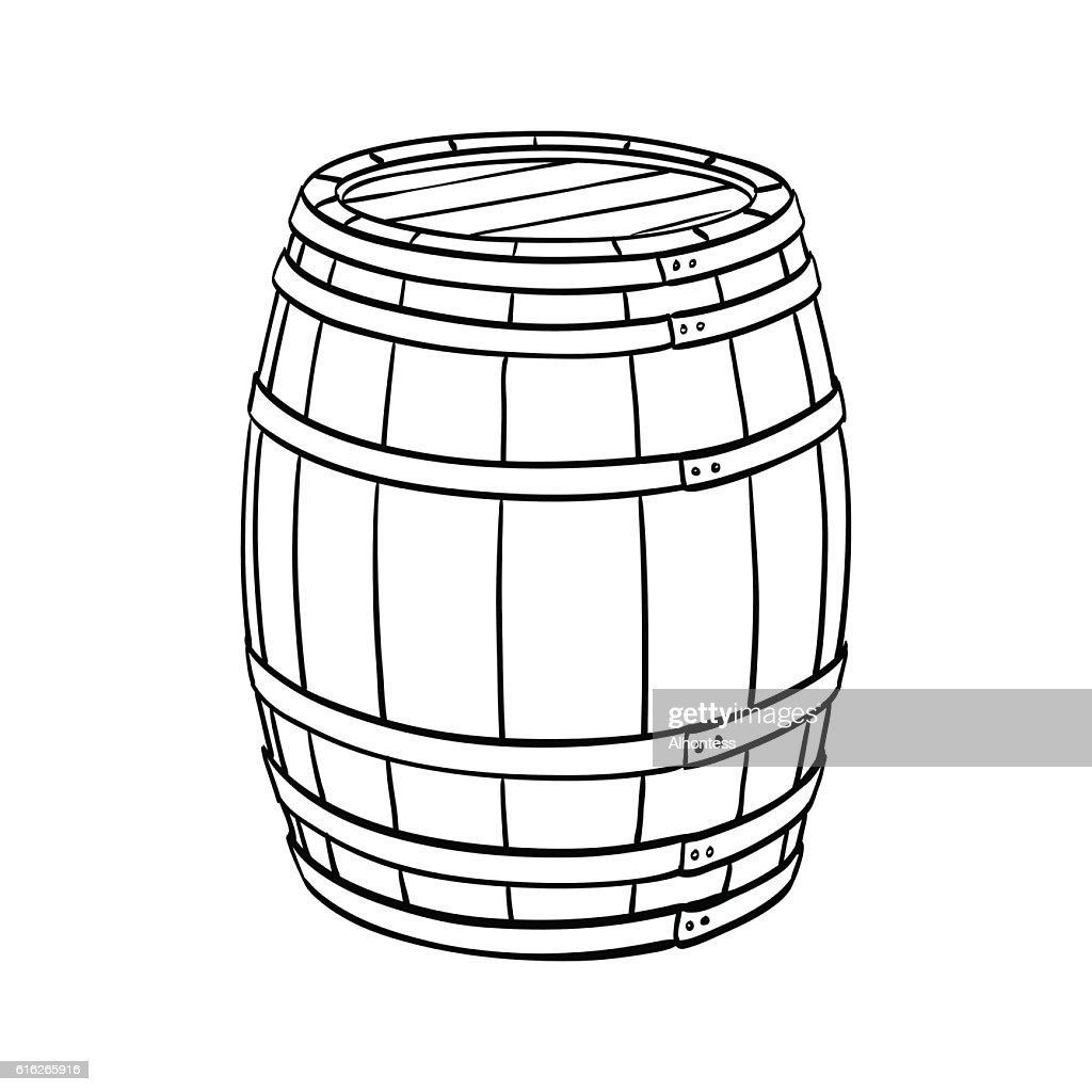 Line sketch of barrel : Vector Art