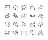 Line Sleep Icons