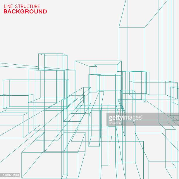 line structure background