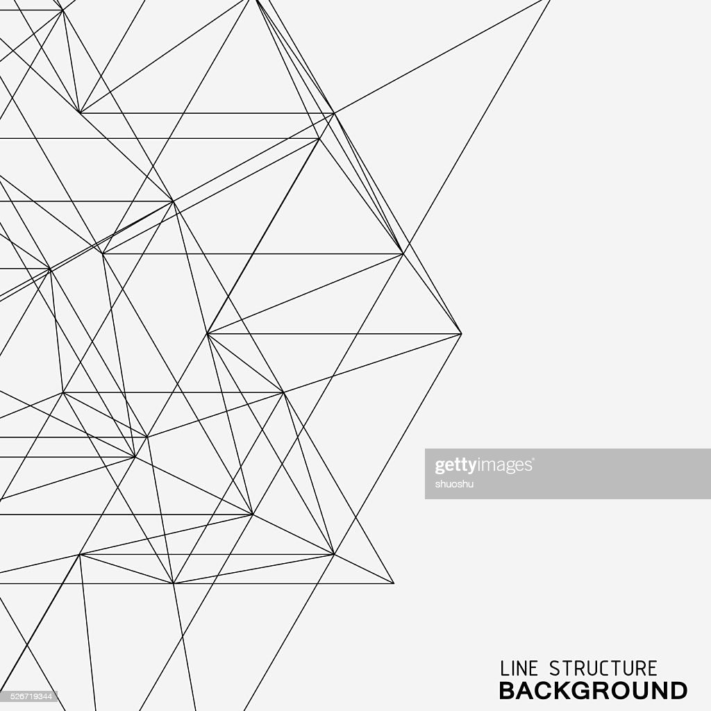 line structure background : Illustrationer